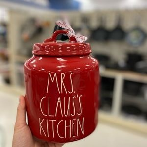 rae dunn mrs clau's kitchen canister